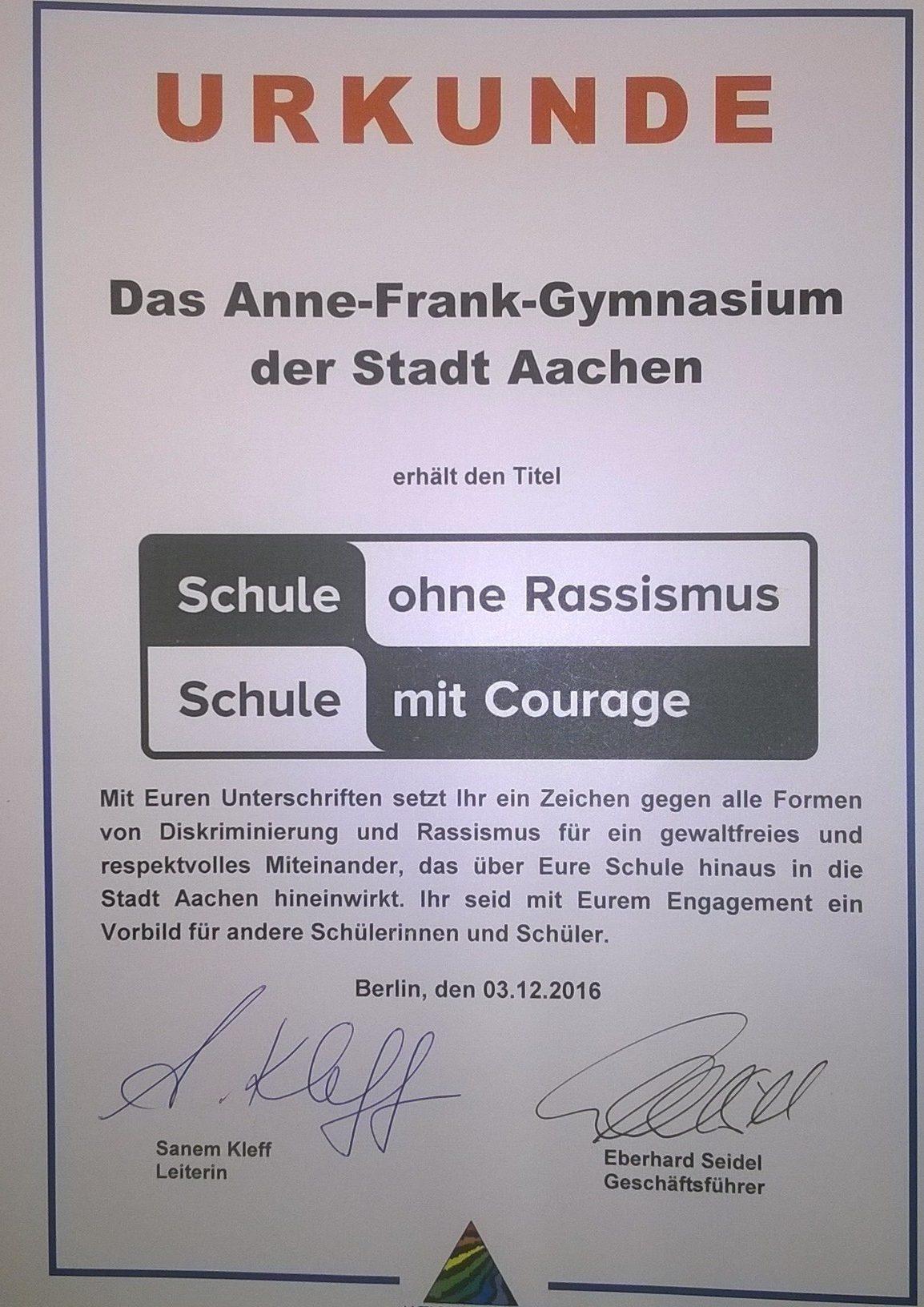 anne frank gymnasium berlin